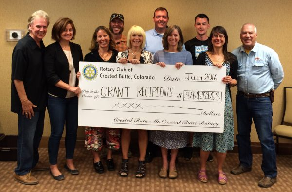 Crested Butte Rotary Grants 2016