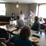 Megan and Scott Reimer of Jackson Honest Crunchy Snacks presenting to the Club